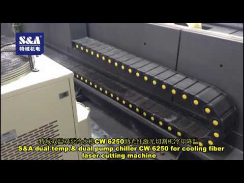S&A dual temp.& dual pump chiller CW-6250 for cooling fiber laser cutting machine