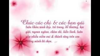 Những lời chúc mừng ngày Phụ nữ Việt nam 20 10
