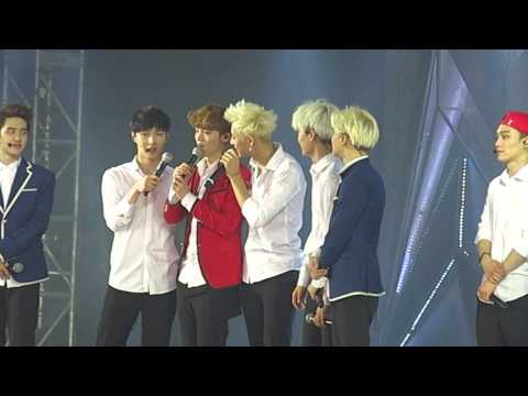 140601 EXO talking before ending the show