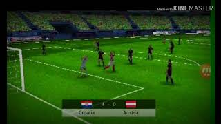 Crotia   vs  Austria in world leauge soccer