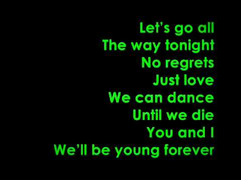 glee teenage dream lyrics