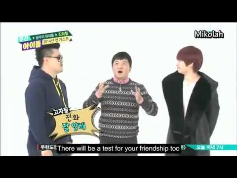 [Eng Sub] 140101 Weekly Idol Kim Heechul Cut P1/2