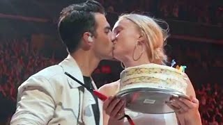 Sophie Turner Crashes Jonas Brothers Stage With Birthday Cake for Joe