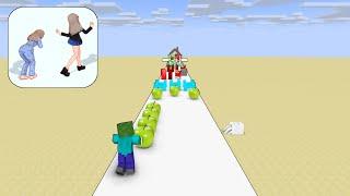 Monster School : RUN HEALTHY CHALLENGE - Minecraft Animation