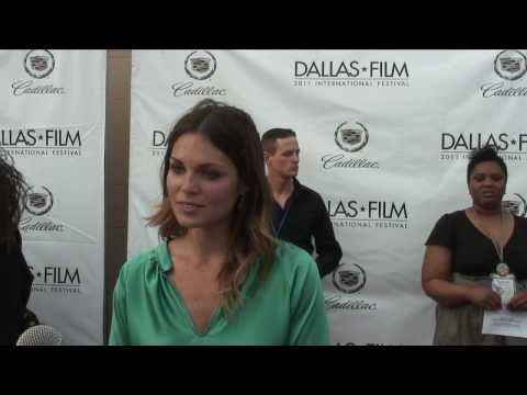 Kate French red carpet interview at the 2011 Dallas International ...