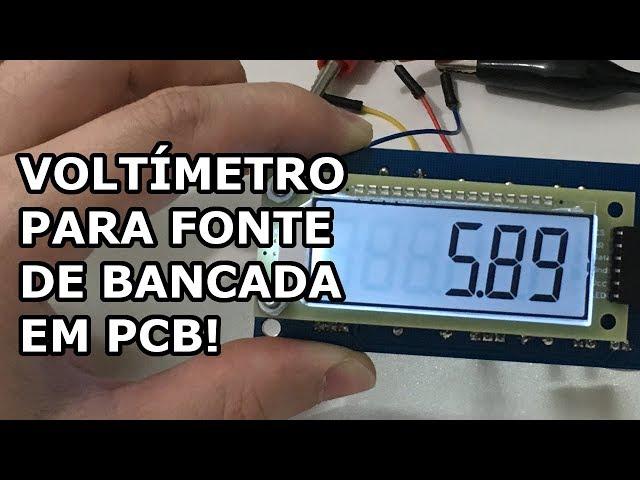 VOLTÍMETRO PROFISSIONAL PARA FONTE DE BANCADA AGORA EM PCB!
