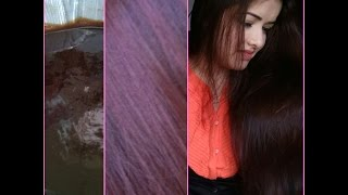 How to Dye hair at home(with coffee)#burgundy#brown red#100%natural