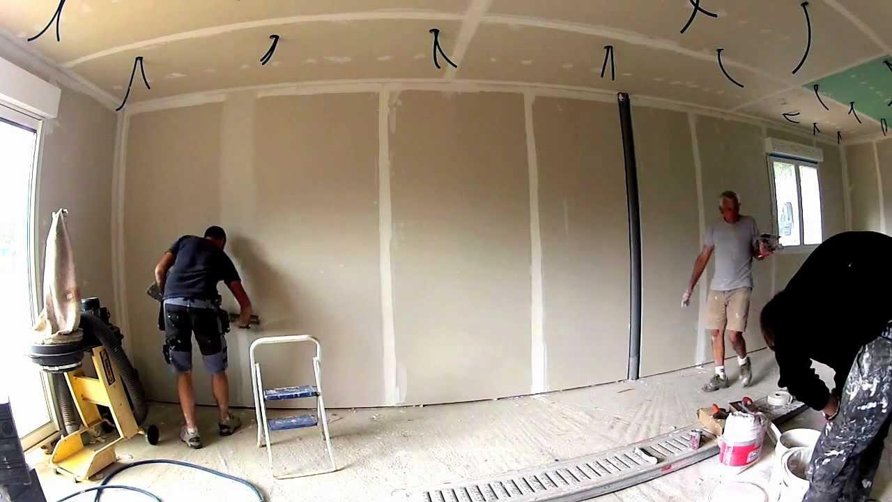 comment faire des joints de placo youtube. Black Bedroom Furniture Sets. Home Design Ideas