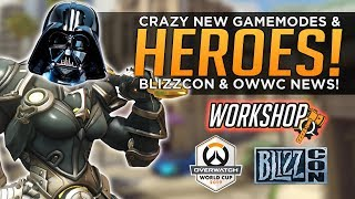 Crazy NEW Overwatch Heroes & Modes! - Workshop, Blizzcon & World Cup