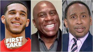 The Knicks need to get Lonzo Ball - Magic Johnson sets off Stephen A.   First Take