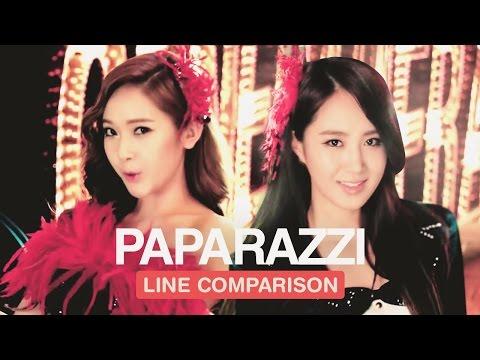 GIRLS' GENERATION - PAPARAZZI (Line Comparison)  「without Jessica」