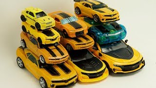Transformers Bumblebee Yellow Car Color Autobots Battle Ops Transform #трансформеры Cars Robot Toys