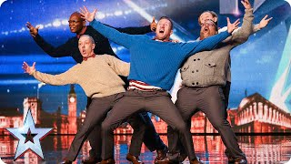 Old Men Grooving bust a move, and maybe their backs! | Britain's Got Talent 2015