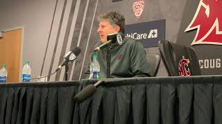 Mike Leach following 28-15 Apple Cup loss