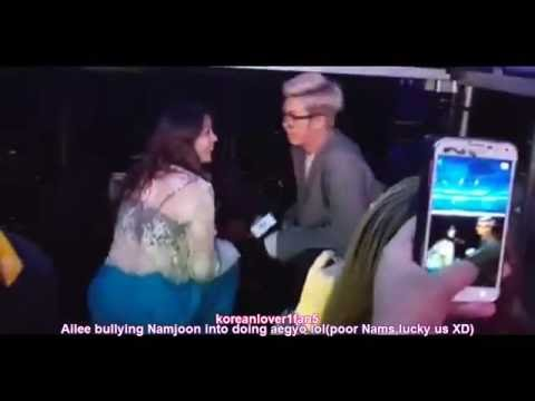 BTS NAMJOON a GENTLEMAN to AILEE+a few more ADORABLE MOMENTS!KCON NY!