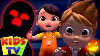 Monsters in the Dark   Halloween Songs & Music   Spooky Nursery Rhymes & Scary Songs - Kids Tv