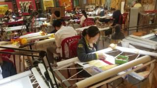 Vietnam Cross Stitch Painting in Hanoi