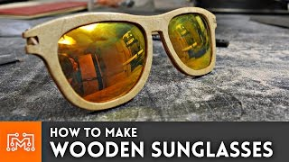 How to make wooden sunglasses // Woodworking Project