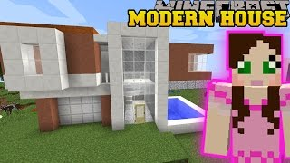 Minecraft: MODERN HOUSES & FURNITURE (WARDROBE, TELEVISION, & INSTANT HOUSES) Custom Command