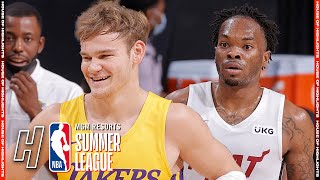 Miami Heat vs Los Angeles Lakers - Full Game Highlights   August 3, 2021 NBA Summer League