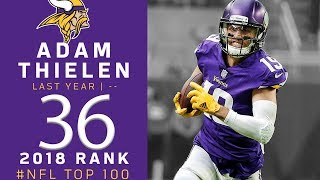 #36: Adam Thielen (WR, Vikings) | Top 100 Players of 2018 | NFL