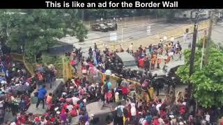 Illegals break through fence at Guatemala-Mexico border, Next Stop United States