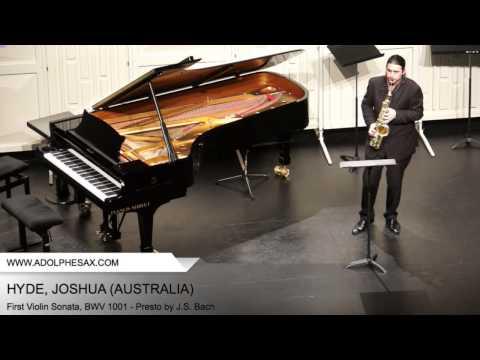 Dinant 2014 - Hyde, Joshua - First Violin Sonata, BWV 1001 - Presto by J.S. Bach