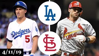 Los Angeles Dodgers vs St. Louis Cardinals Highlights | April 11, 2019