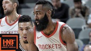 Houston Rockets vs San Antonio Spurs 1st Half Highlights / Feb 1 / 2017-18 NBA Season