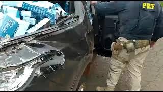 PRF apreende veículo transportando cigarros na BR-158, em Cruz Alta