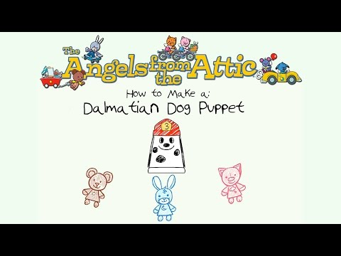 """How to Make a  Dalmation Dog Puppet"" Angels from the Attic Create-Along"