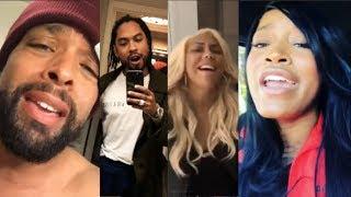 Celebrities do the #OldSchoolChallenge (Miguel, Keke Palmer, Tamar Braxton, DeRay Davis,)