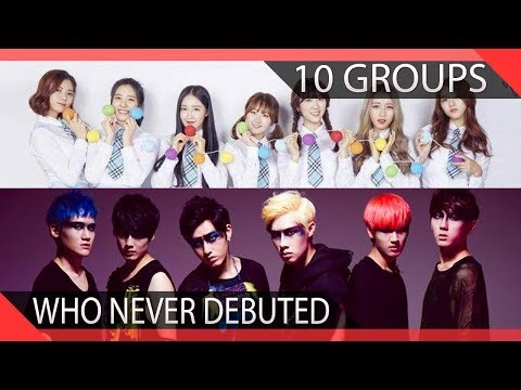 10 KPOP Groups Who Never Debuted