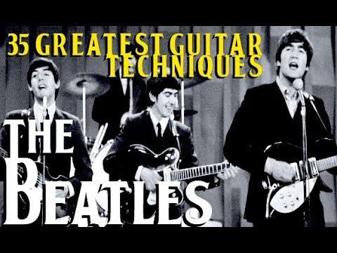 THE BEATLES' 35 Greatest Guitar Techniques!