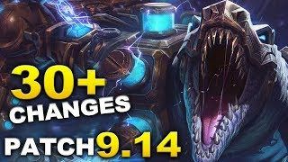 """Mid Season"" League Update Patch 9.14 - 30+ changes and reworks"