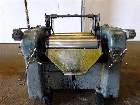Used- Lehmann Machinery Horizontal Three Roll Dispersion Mill - stock # 48333002