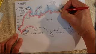 ASMR - Map of Russia - Australian Accent - Chewing Gum & Describing in a Quiet Whisper