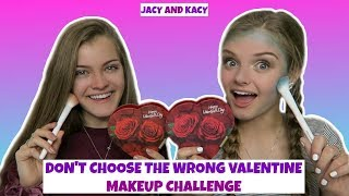 Don't Choose the Wrong Valentine ~ Makeup Challenge ~ Jacy and Kacy
