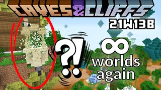 Minecraft Caves and Cliffs 1.17 21w13b snapshot - Infinite dimensions again??