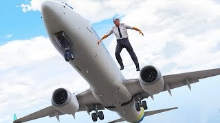 Pilot Jumps Out Of Boeing 737   GTA 5