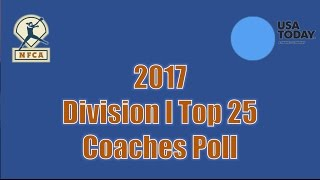 2017 USA Today Sports/NFCA Division I Top 25 — March 14