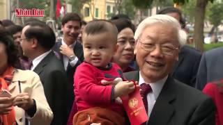 Tổng Bí thư Nguyễn Phú Trọng thăm, chúc Tết Đảng bộ và nhân dân Hà Nội