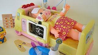 Ambulance baby doll Doctor toy video for children