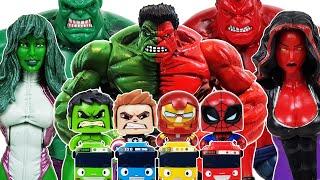 Avengers, Red Hulk Go~!  Iron Man, Spider-Man, She-Hulk, Captain America, Thanos, Venom, Tayo