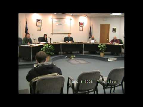 Rouses Point Village Board Meeting  12-1-08