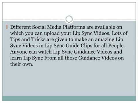 Latest Social Media Trend for Lip Sync Videos - Learn making of Lips Sync Video