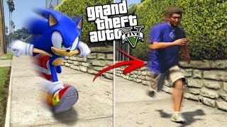 SONIC the HEDGEHOG becomes a HUMAN (GTA 5 Mods)