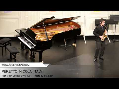 Dinant2014 PERETTO Nicola First Violin Sonata, BWV 1001 Presto by J S Bach
