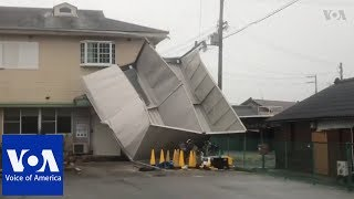 Japan Urges Evacuations, Cancels Flights as Typhoon Jebi Lands