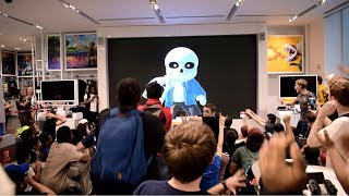 Sans Reveal for Super Smash Bros. Ultimate Live Reactions at Nintendo NY